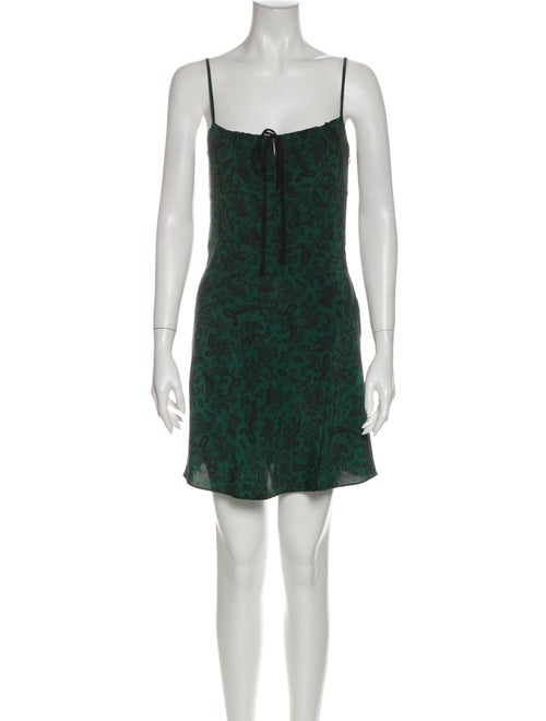 Réalisation Par Silk Mini Dress Green