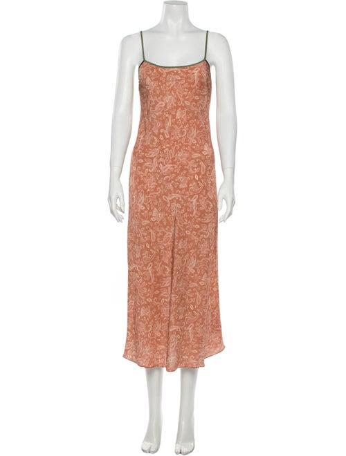 Réalisation Par Silk Long Dress w/ Tags Orange