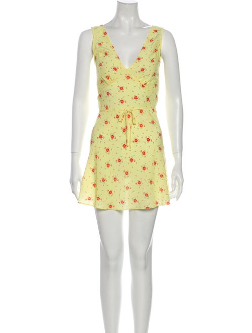 Réalisation Par Silk Mini Dress Yellow