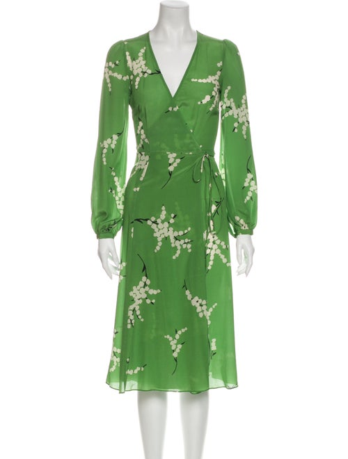 Réalisation Par Silk Midi Length Dress Green