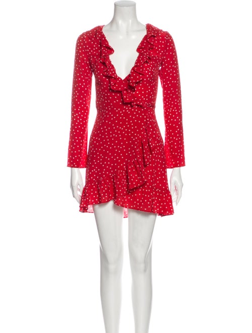 Réalisation Par Silk Mini Dress Red