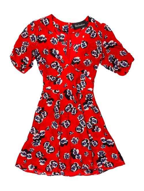 Réalisation Par Silk Mini Dress Red