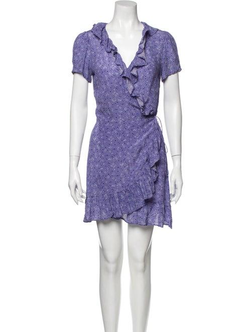 Réalisation Par Silk Mini Dress Purple
