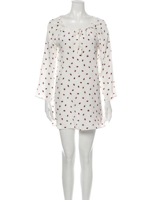 Réalisation Par Silk Mini Dress White