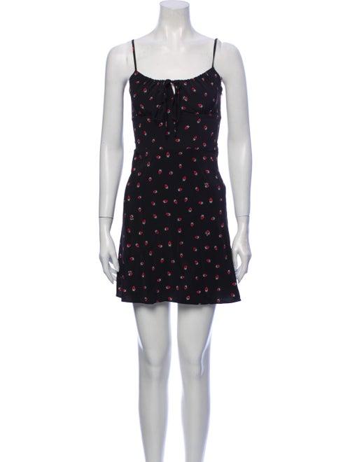 Réalisation Par Silk Mini Dress Black