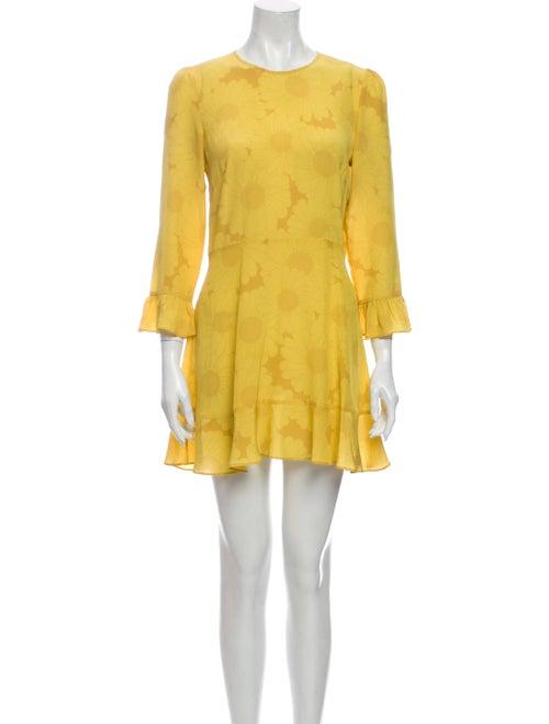 Réalisation Par Silk Mini Dress Yellow