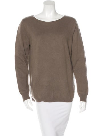 Repeat Wool & Cashmere-Blend Long Sleeve Sweater None