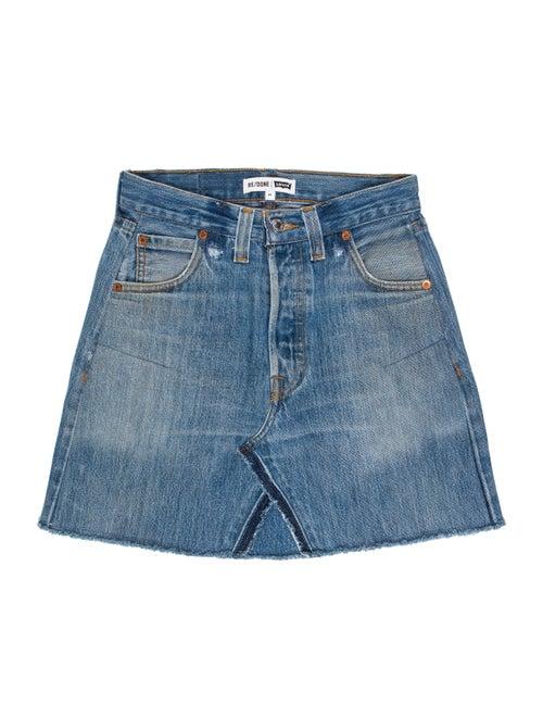 Re/done Levi's Denim Mini Skirt denim