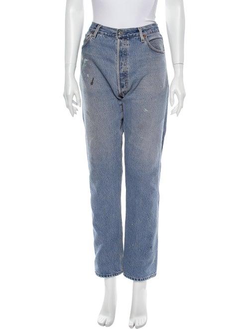 Re/done Levis Straight Leg Jeans Blue