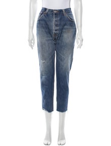 RE/DONE Mid-Rise Straight Leg Jeans