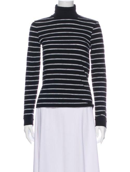 Re/done Striped Turtleneck Sweatshirt Black