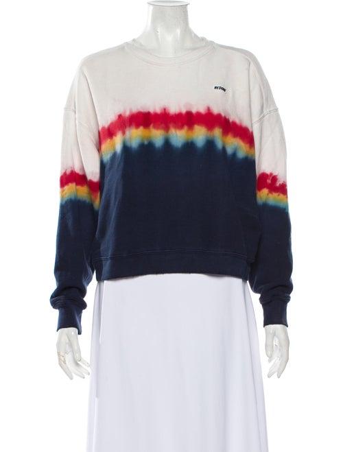 Re/done Tie-Dye Print Crew Neck Sweatshirt Blue