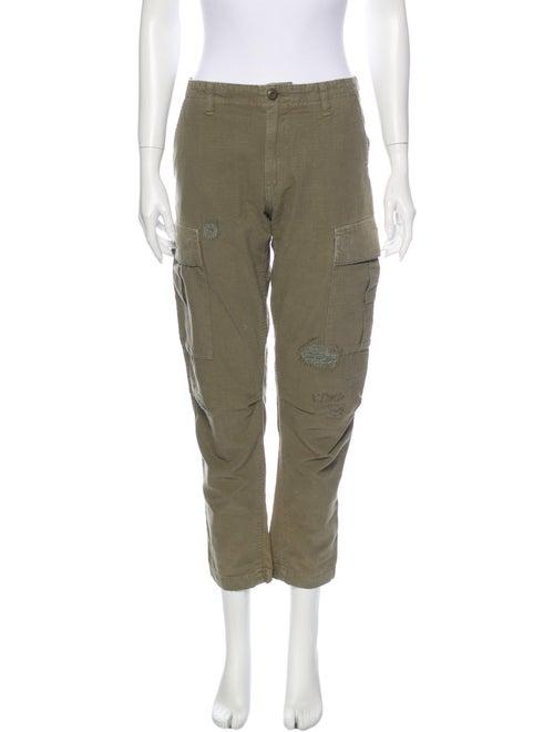 Re/done Straight Leg Pants Green