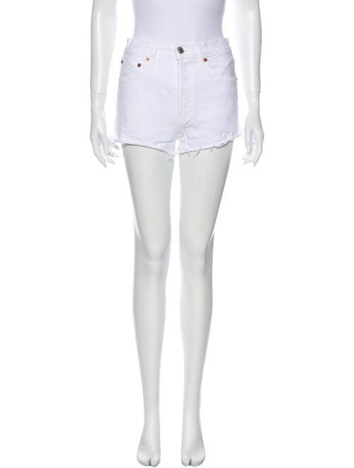 Re/done Mini Shorts White