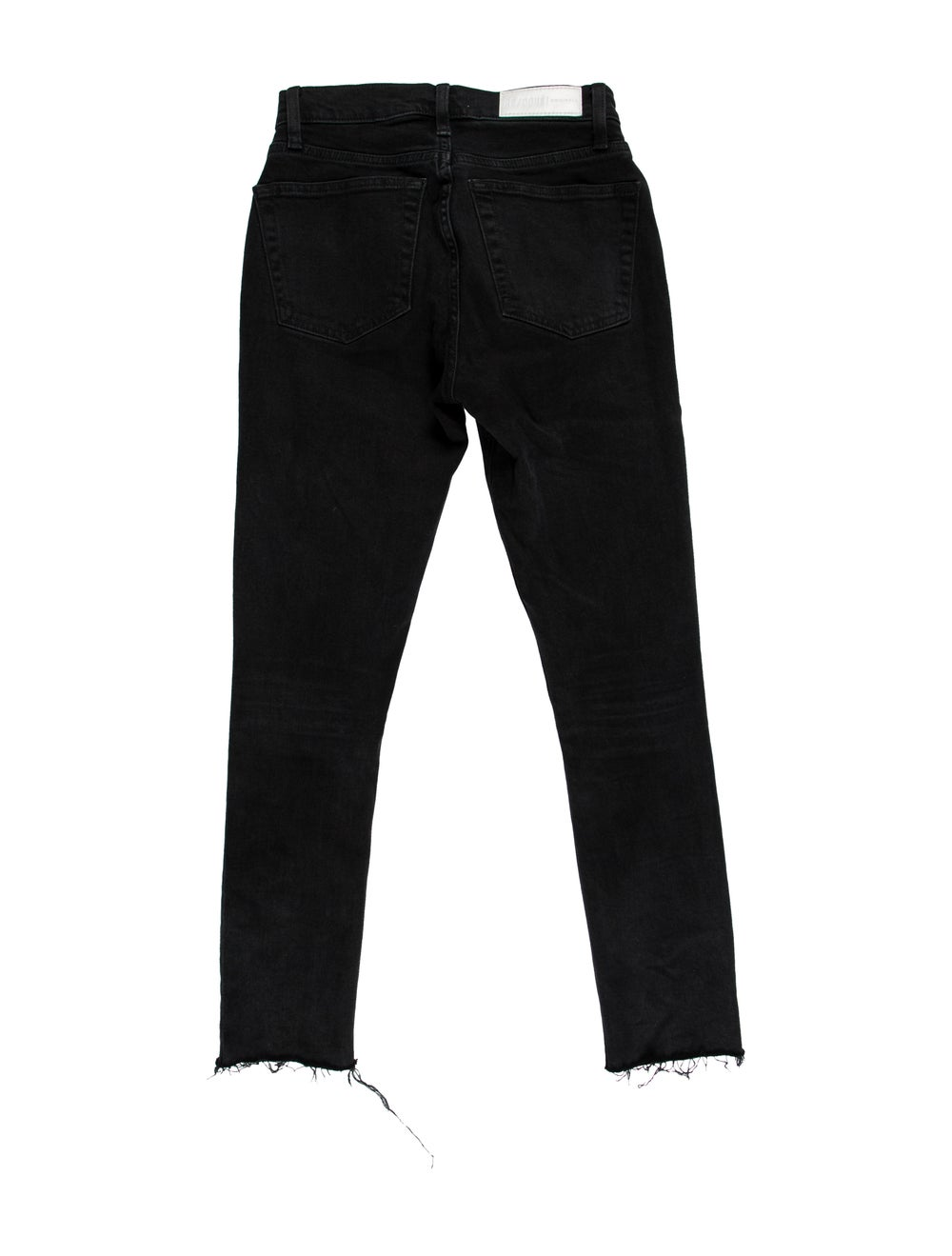 Re/done Mid-Rise Straight Leg Jeans Black - image 2