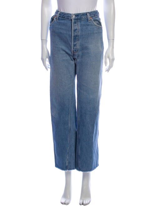 Re/done High-Rise Wide Leg Jeans Blue