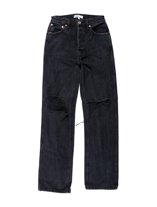 Re/done High-Rise Wide Leg Jeans Black