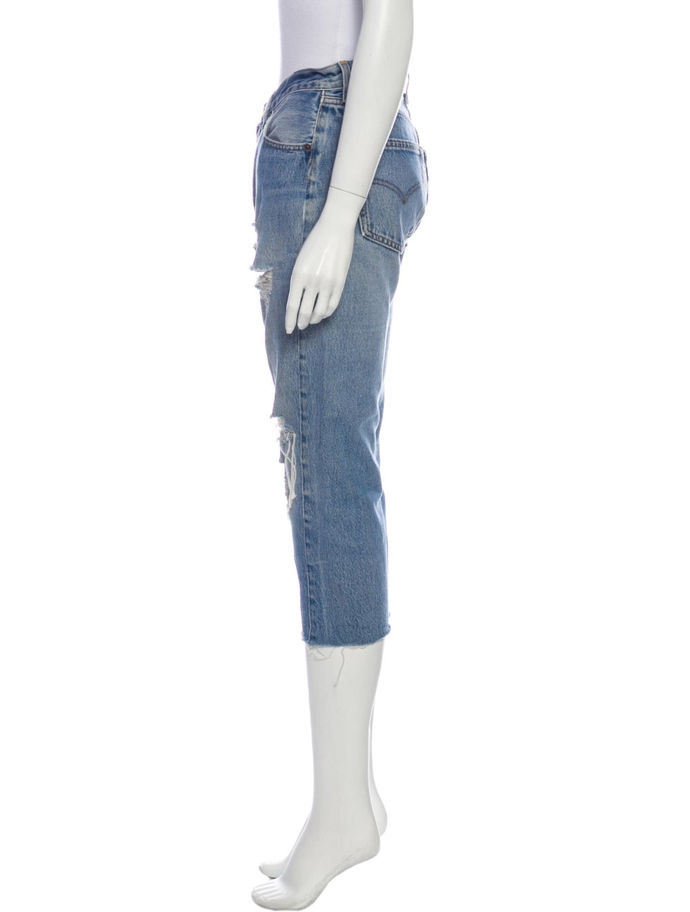 Re/done Mid-Rise Straight Leg Jeans Blue - image 2