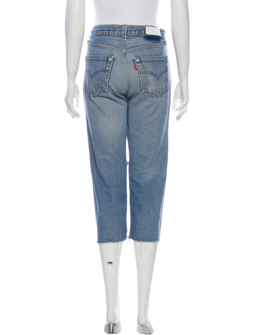 Re/done Mid-Rise Straight Leg Jeans Blue - image 3