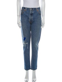 RE/DONE High-Rise Straight Leg Jeans