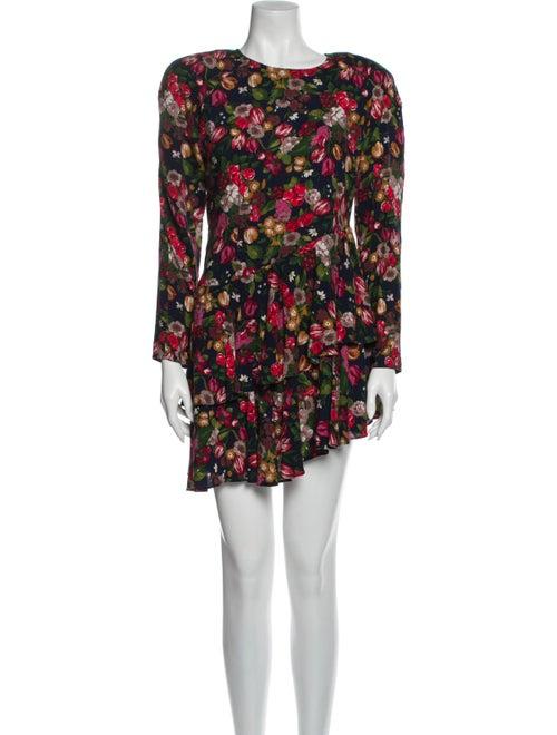 Re/done Floral Print Mini Dress