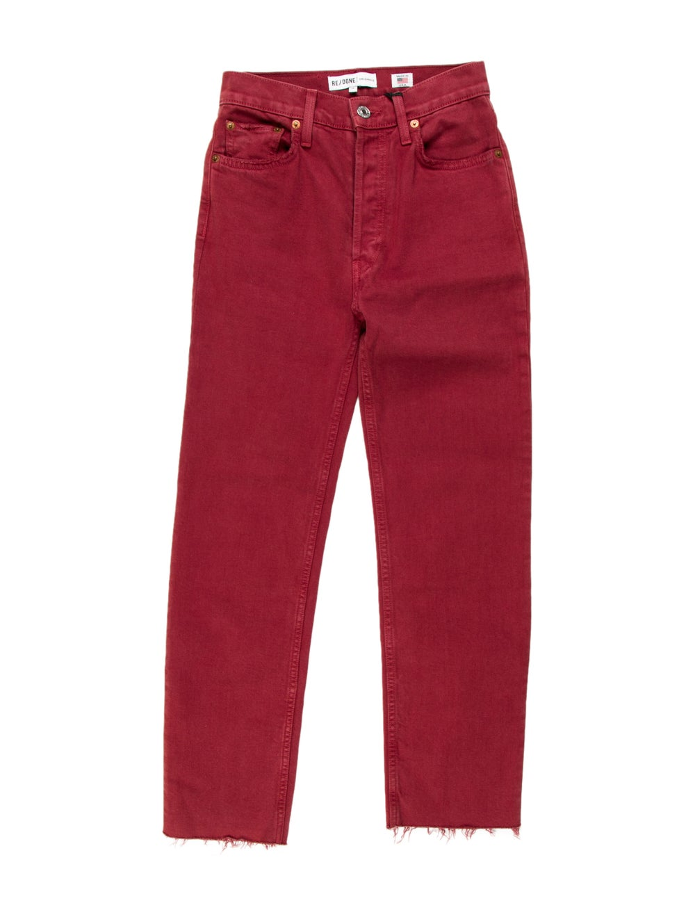 Re/done Mid-Rise Straight Leg Jeans - image 1