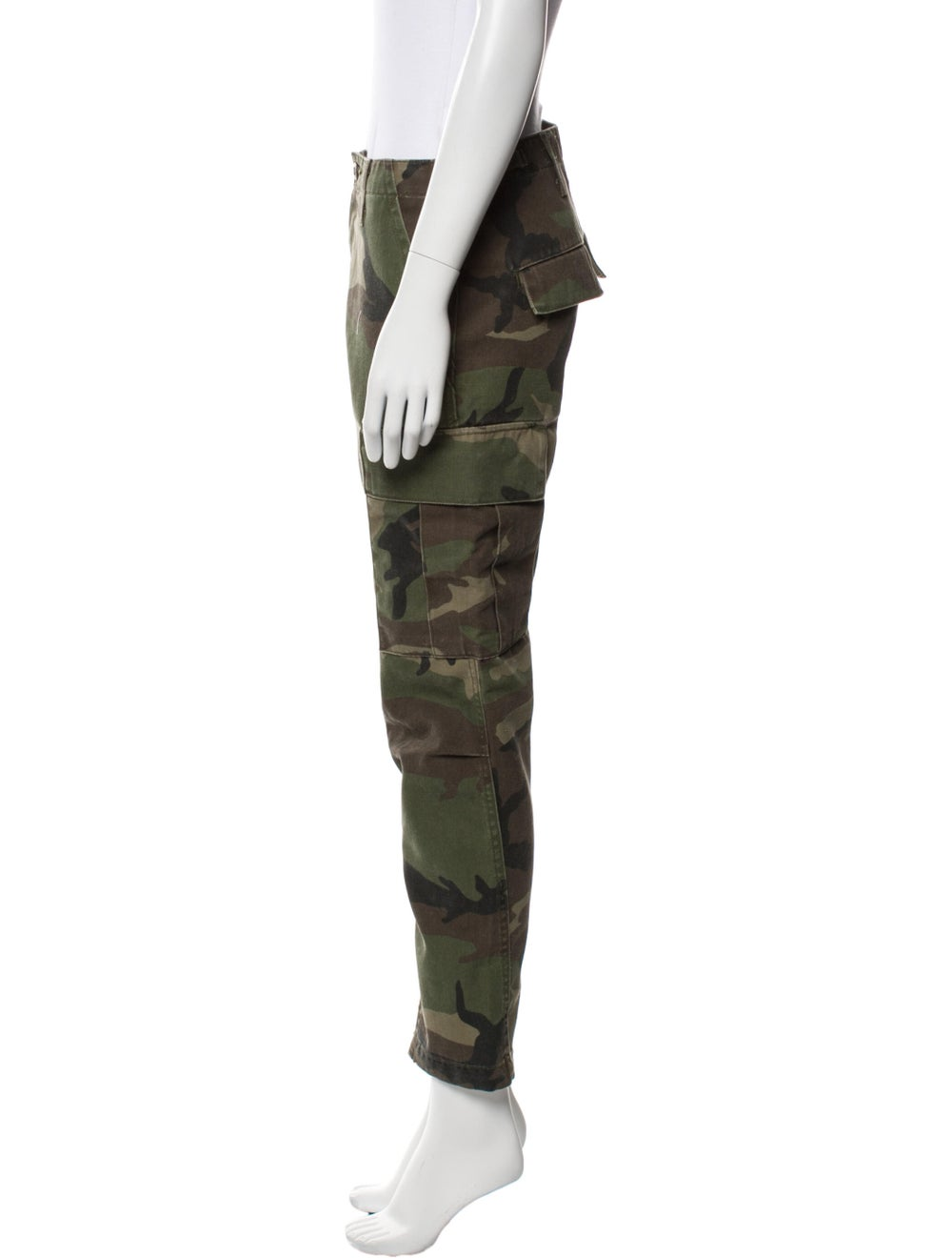 Re/Done Printed Straight Leg Pants Green - image 2