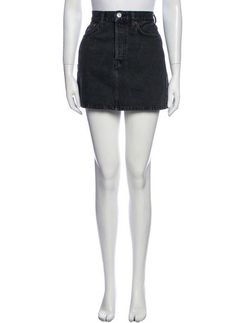 Re/Done Mini Skirt Grey