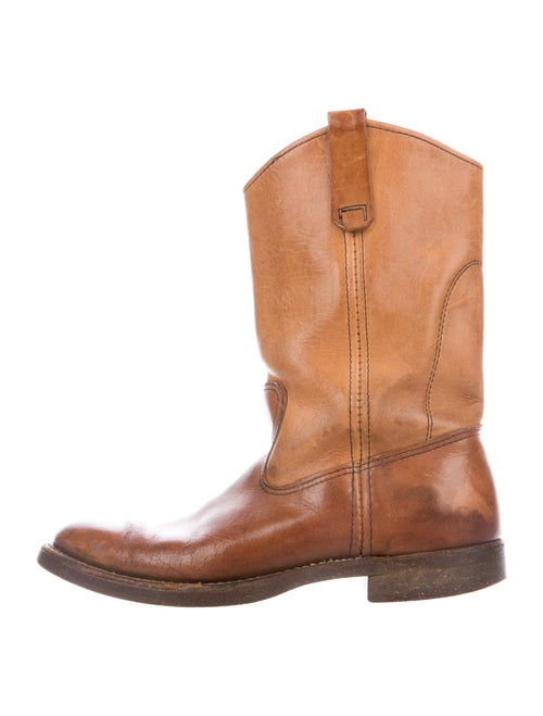 Red Wing Leather Western Boots Red