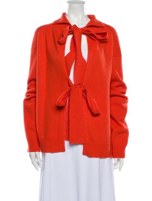 Rejina Pyo Tie Neck Sweater Orange