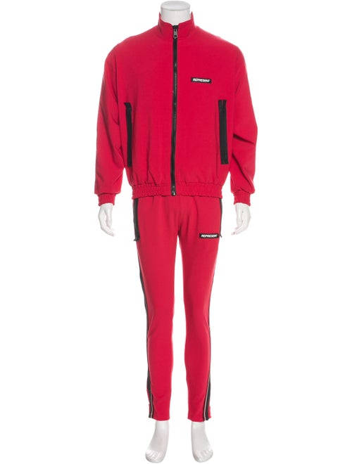 Represent Woven Track Suit red