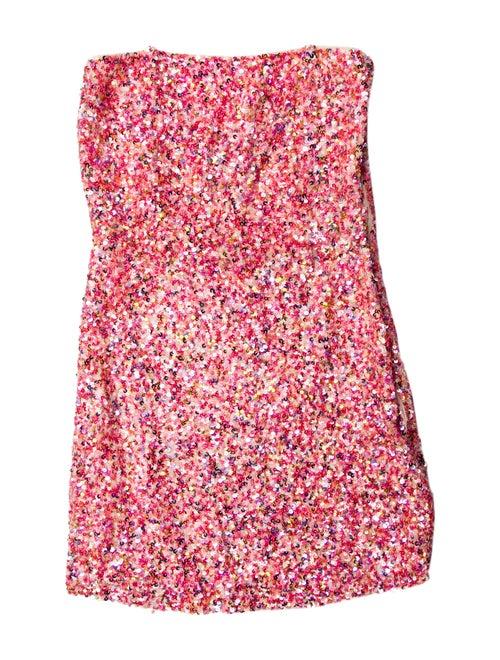 Retrofête Floral Print Mini Dress Pink