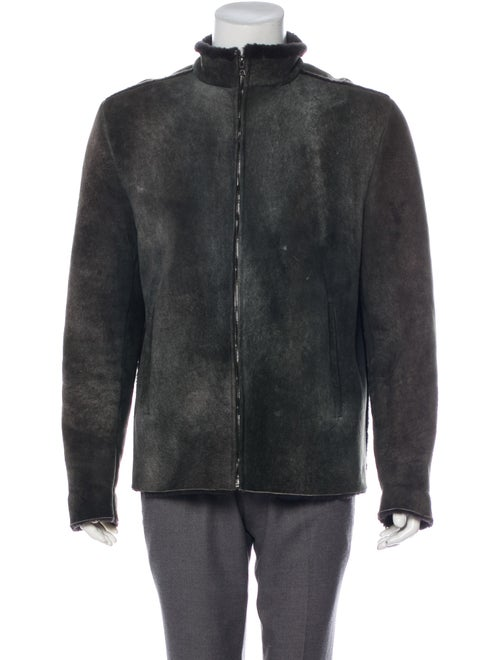 Ruffo Shearling-Lined Suede Jacket