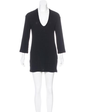 Reformation Rib Knit Mini Dress None