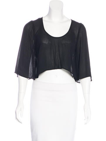 Reformation Crepe Crop Top None