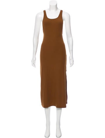 Reformation Ribbed Midi Dress None