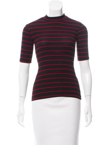 Reformation Striped Rib Knit Top None