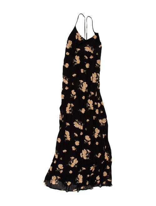 Reformation Printed Maxi Dress Black