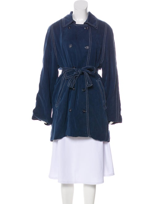 Reformation Trench Coat Blue