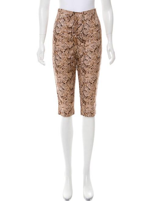 Reformation Animal Print Straight Leg Pants w/ Ta… - image 1