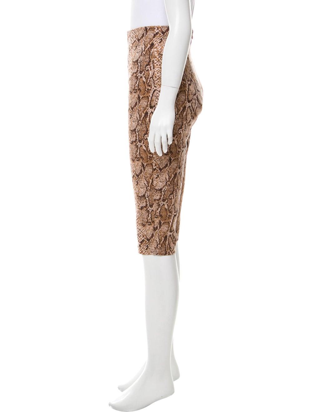 Reformation Animal Print Straight Leg Pants w/ Ta… - image 2