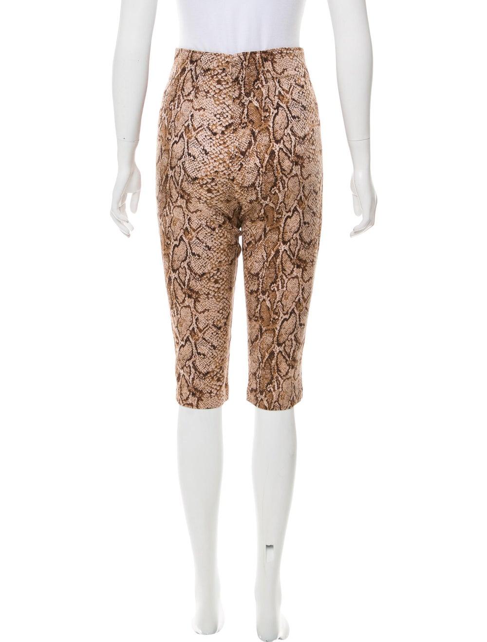 Reformation Animal Print Straight Leg Pants w/ Ta… - image 3