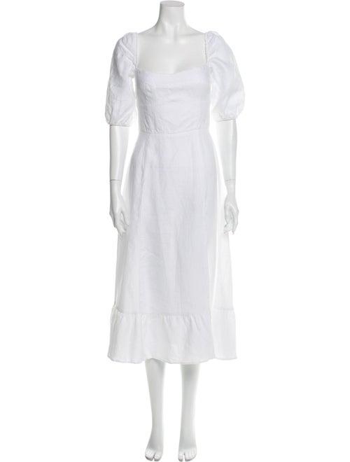 Reformation Linen Long Dress White