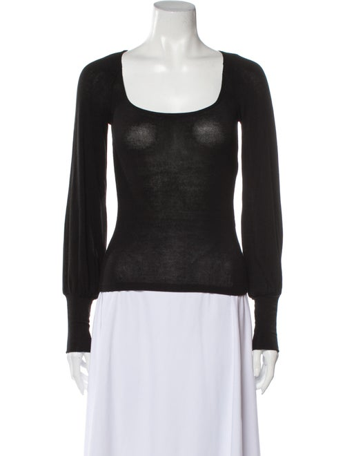 Reformation Scoop Neck Sweater Black