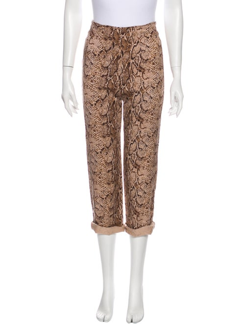 Reformation Animal Print Straight Leg Pants