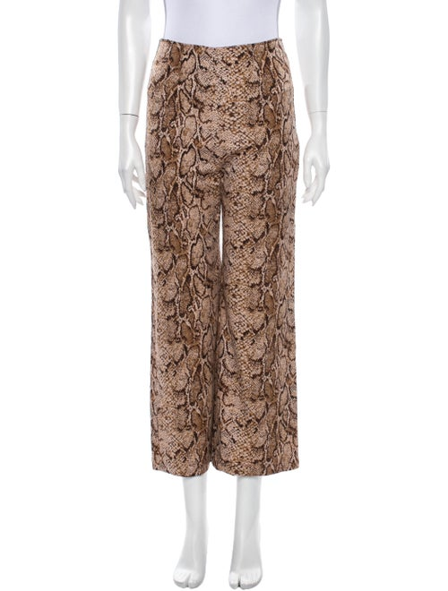 Reformation Animal Print Wide Leg Pants
