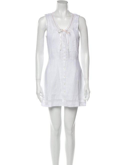 Reformation Linen Mini Dress w/ Tags White