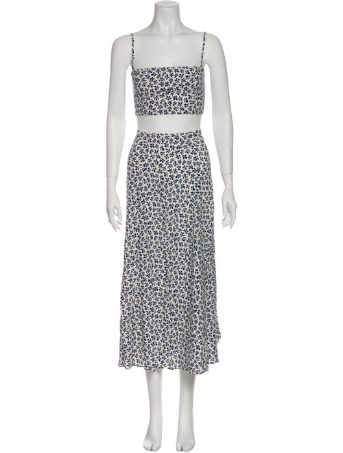 Reformation Floral Print Skirt Set w/ Tags White