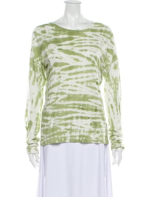 Reformation Tie-Dye Print Scoop Neck Sweater Green