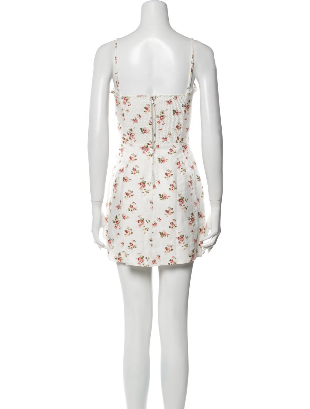 Reformation Linen Mini Dress White - image 3